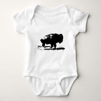 Running Buffalo Bison Pop Art Baby Bodysuit