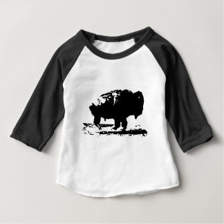 Running Buffalo Bison Pop Art Baby T-Shirt