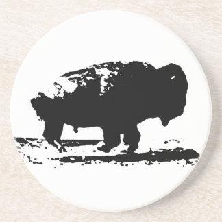 Running Buffalo Bison Pop Art Coaster