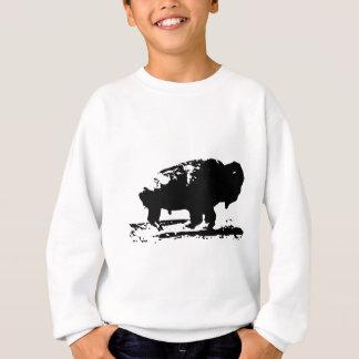 Running Buffalo Bison Pop Art Sweatshirt