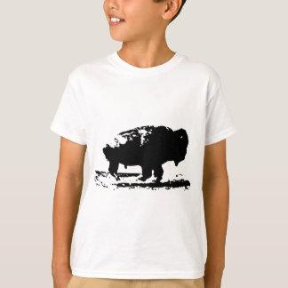 Running Buffalo Bison Pop Art T-Shirt