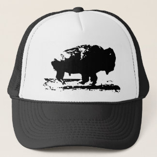 Running Buffalo Bison Pop Art Trucker Hat
