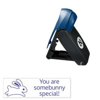 Running Bunny Rabbit Somebunny (Somebody) Special Pocket Stamp