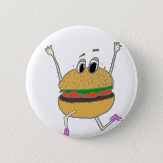 running burger 2 inch round button