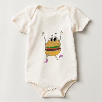 running burger baby bodysuit