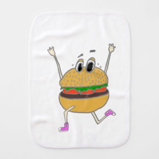 running burger burp cloth