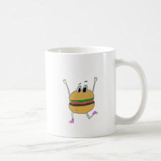 running burger coffee mug