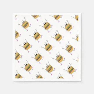 running burger disposable napkin