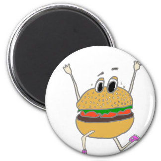 running burger magnet