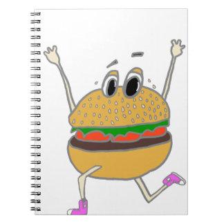 running burger notebook
