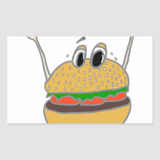 running burger sticker