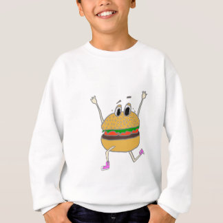 running burger sweatshirt