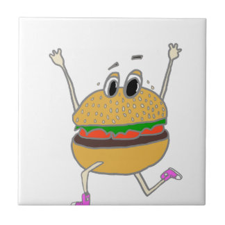 running burger tile