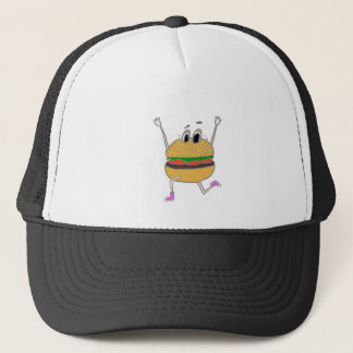 running burger trucker hat