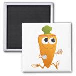 Running Carrot Square Magnet
