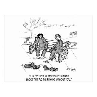 Running Cartoon 2113 Postcard