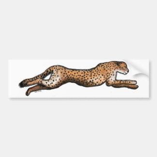 Running Cheetah Art Bumper Sticker