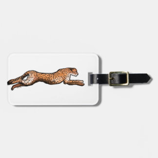 Running Cheetah Art Luggage Tag