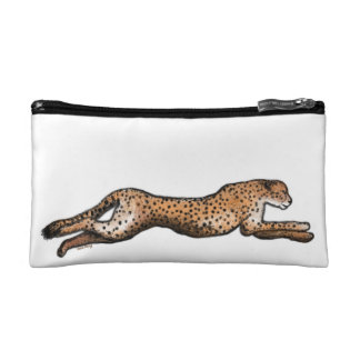 Running Cheetah Art Make Up Bag