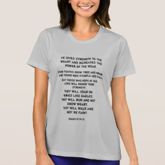 Running clothes with an endurance blessing T-Shirt