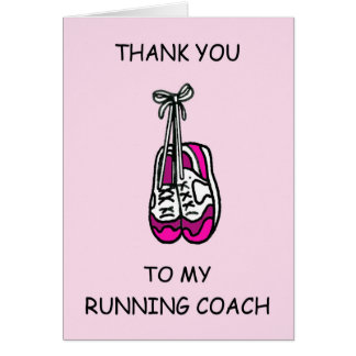 Running Coach Thanks Card