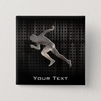 Running; Cool 2 Inch Square Button