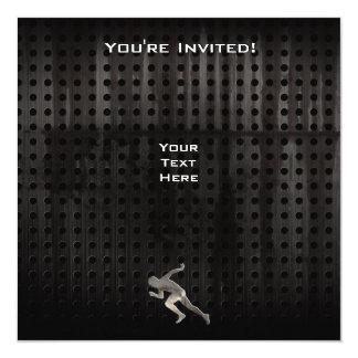 "Running; Cool 5.25"" Square Invitation Card"