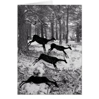 Running Deer Greeting Card