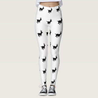 Running Deer Pattern Leggings