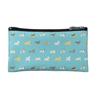 Running Dogs Illustrated Cosmetic Bag