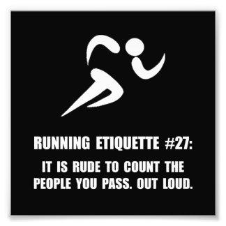 Running Etiquette Art Photo