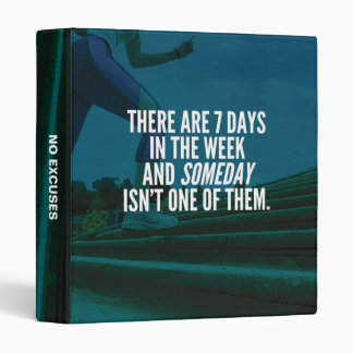Running Exercise Motivational Words 3 Ring Binder