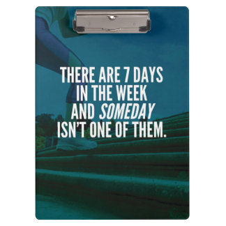 Running Exercise Motivational Words Clipboard