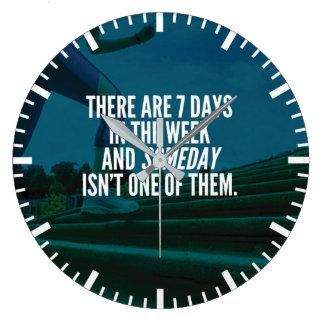 Running Exercise Motivational Words Large Clock