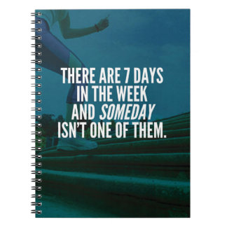 Running Exercise Motivational Words Notebooks