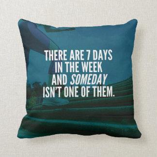 Running Exercise Motivational Words Throw Pillow