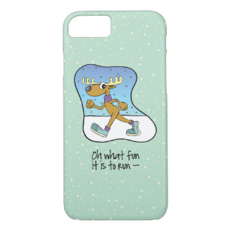 Running Exercise Reindeer Christmas iPhone 8/7 Case