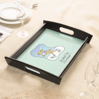 Running Exercise Reindeer Christmas Serving Tray