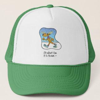 Running Exercise Reindeer Christmas Trucker Hat