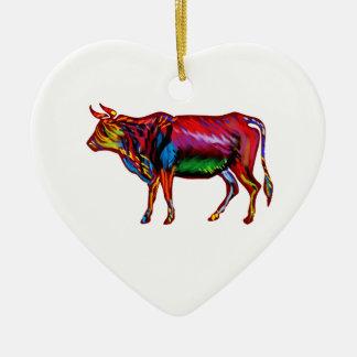 Running Fiesta Ceramic Heart Ornament
