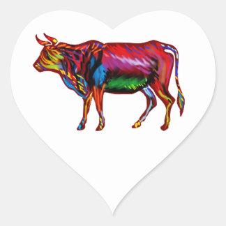 Running Fiesta Heart Sticker