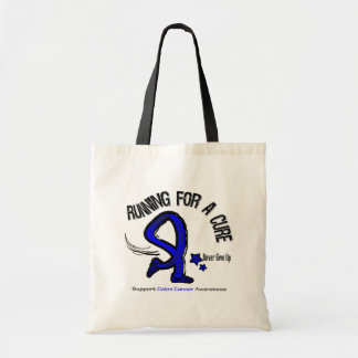 Running For A Cure Colon Cancer Budget Tote Bag