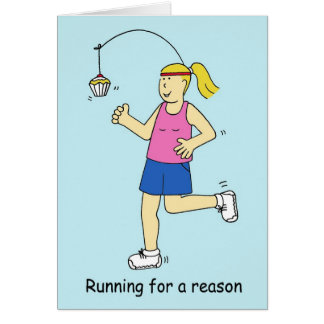 Running for a reason/cake for ladies. card