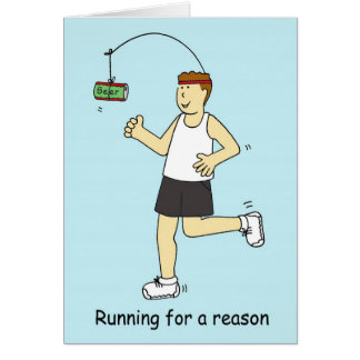 Running for beer. card