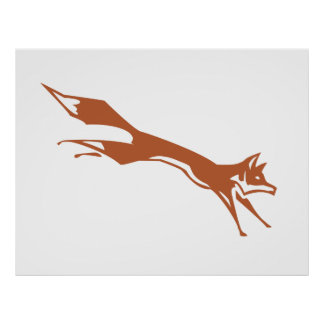 Running Fox Poster