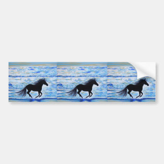 Running Free by the Sea 2 Bumper Sticker