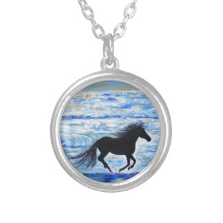 Running Free by the Sea 2 Silver Plated Necklace
