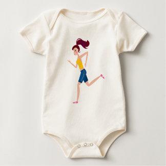 Running girl edition baby bodysuit