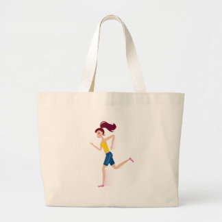 Running girl edition large tote bag