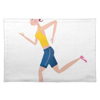 Running girl edition placemat